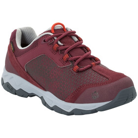 Jack Wolfskin Rock Hunter Texapore Chaussures à tige basse Femme, burgundy/light grey